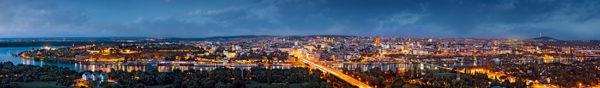 Belgrade By Night Panorama 2
