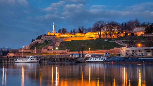 Sava River Kalemegdan By Night 1